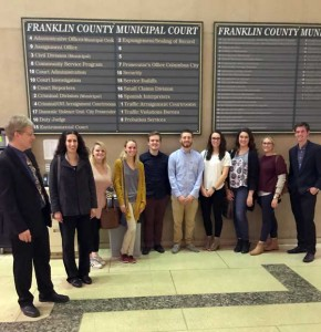 Students visit Franklin Co Courthouse