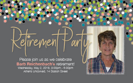 Barb Reichenbach Retirement Invitation